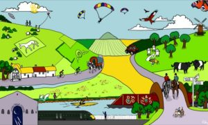 Designed and produced by Brigit Greystone, Sylvie Clayden, Yr 10 Pewsey Vale School and sponsored by the North Wessex Downs AONB