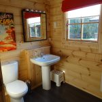 Family bathroom in larger cabins